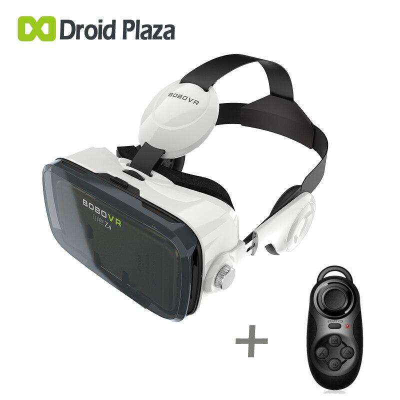 62016378aa BOBOVR Z4 3D VR gafas Realidad Virtual auricular Google cartón VR gafas  para iPhone 7 8 Plus Samsung S8 4,7 ~ 6