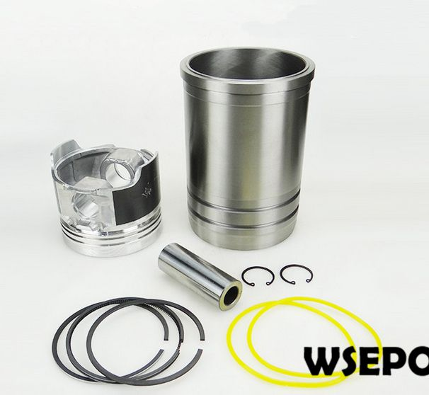 OEM Quality! Cylinder Sleeve/Liner+Piston 06 PC Kit for L32 4 Stroke Single Cylinder Small Water Cooled Diesel Engine 38mm cylinder barrel piston kit