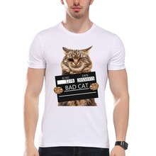 Men women Cool Cat Print T-Shirt