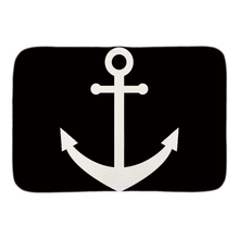 Black White Anchor Designed Doormat Soft Lightness Home Decorative Door Mats font b Indoor b font