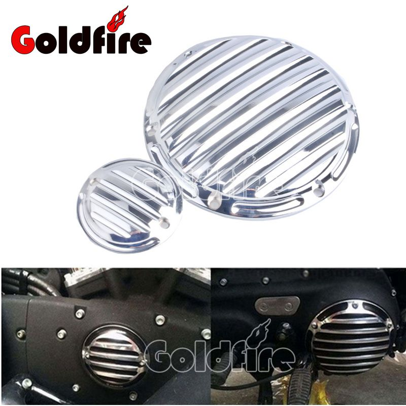 Motorcycle CNC 6-Hole Beveled Engine Side Guard Derby Cover & Timing Timer Covers For Harley 2004-16 XL Sportster mtsooning timing cover and 1 derby cover for harley davidson xlh 883 sportster 1986 2004 xl 883 sportster custom 1998 2008 883l