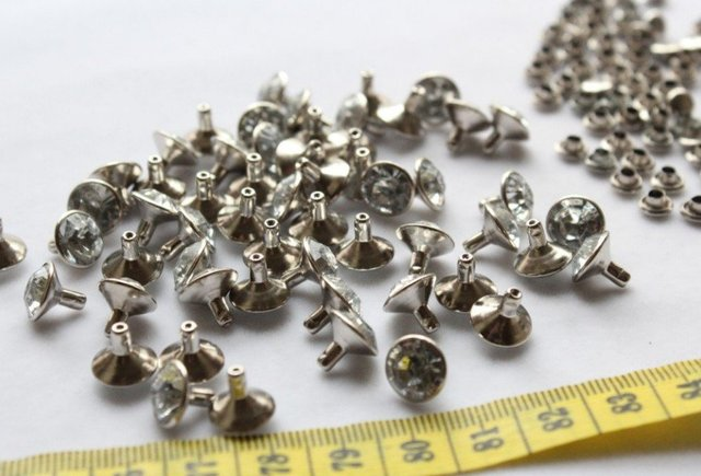 600 sets DIY 10mm Rhinestone Crystal Rapid Rivet Studs brass base wholesale  free shipping 10mm premium 076699168833