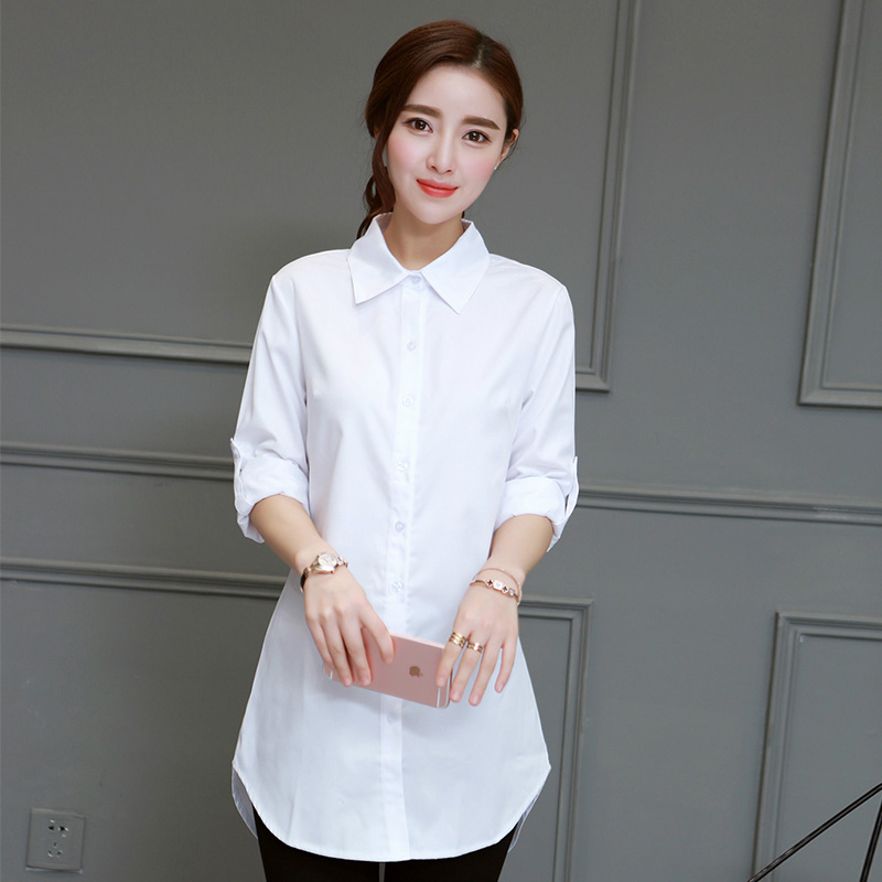 Summer Women   Blouses   Full Sleeve Loose   Shirt   White   Blouses   Plus Size Tops Female Blusas