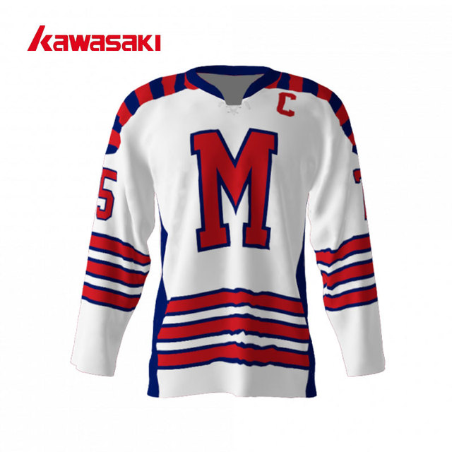 Kawasaki Brand Ice Hockey Jersey Top Youth Mens Custom 75  Plus Size XS-4XL  Quick Dry With Rope Hockey Game Practice Shirt 11a193a9318