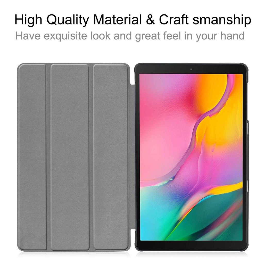High Quality Stand Leather Smart Case For Samsung Galaxy Tab A 10.1 2019 SM-T515/ SM-T510 Folding Flip Stand Cover PU Case