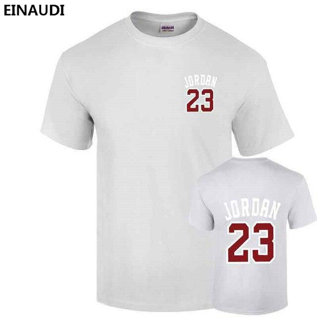best loved 734f5 98d83 2017 Summer EINAUDI New Men Jordan 23 Printed T-shirts Swag 100% Cotton  Skating