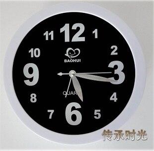 Brief design plastic 6 inch small mini desk alarm clock home decoration bell ring clock for bedroom