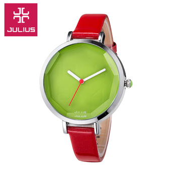 Top Lady Women's Wrist Watch Fine Cute Fashion Hours Dress Bracelet Mix Colors Leather School Girl Birthday Gift Julius Box