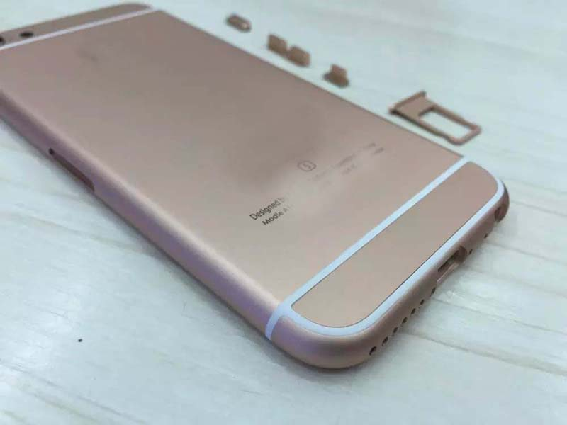 For iphone 5 5S back housing rose gold color like 6S style Metal Battery  Door Cover For 5G 5S Replace to iPhone 6S mini-in Mobile Phone Housings  from ... 322852fef8