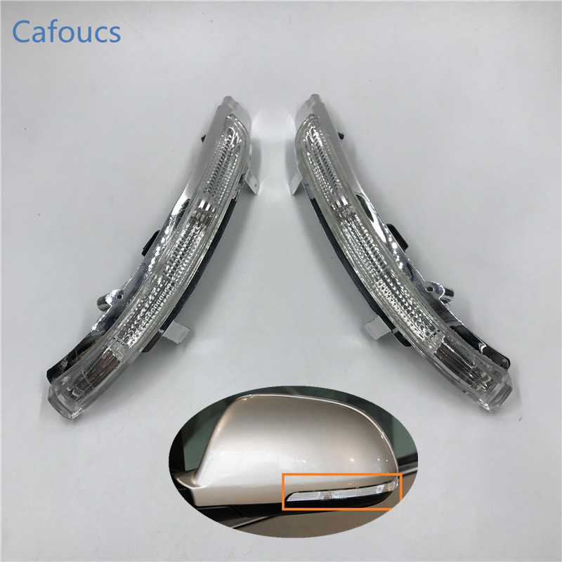 Cafoucs Car Rearview Mirror LED Side Turn signals Light side wing Repeater indicator lamp for Skoda Octavia SUPERB 2009-2013 cafoucs led rearview side mirror turn signal lights mirror lamp for toyota prius reiz wish mark x crown avalon page 5
