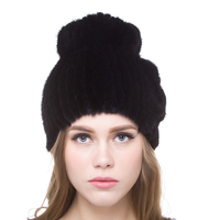 JKP 2018 Real mink fur hat for winter women imported real mink cap 2018 new hot sale high quality female beanies DHY18 15