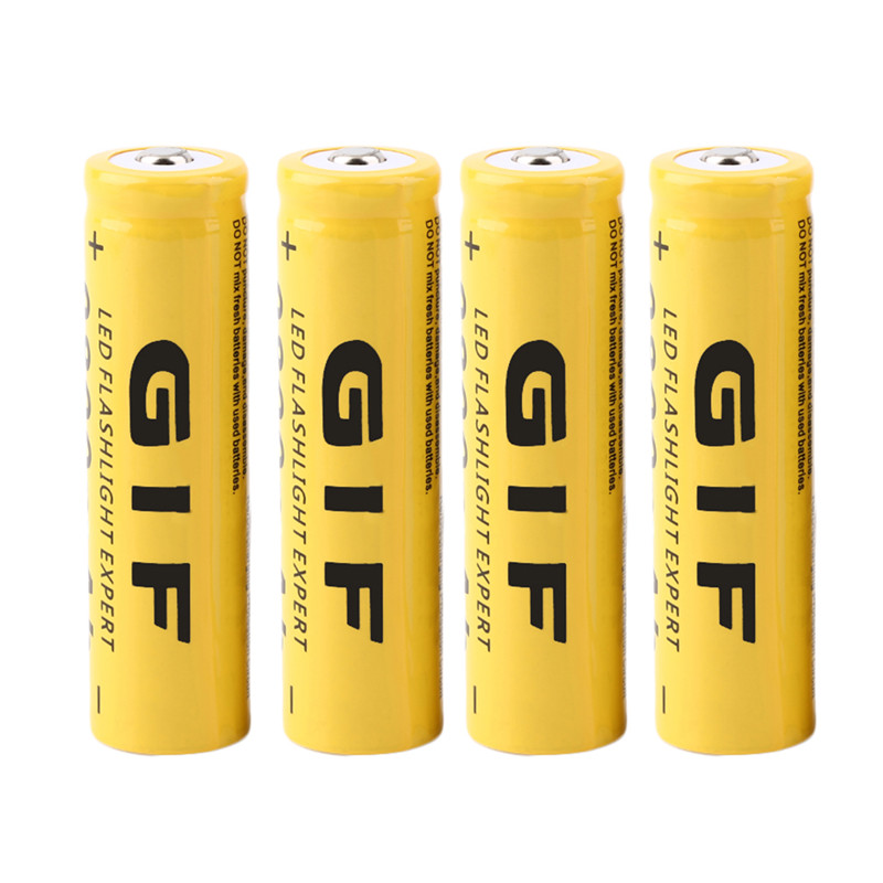 4Pcs 18650 Battery 3.7V 9800mAh Rechargeable Liion Battery for Led Flashlight Batery Li-ion Battery 0.11 ...