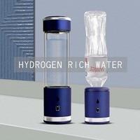 Hygrogen rich Water Bottle 400ml Portable Hydrogen Water Generator high borosilicate glass Fast Electrolysis Hydrogen Maker