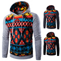 Hoodies Men 2017 Brand Male Long Sleeve Hoodie Digital Printing Sweatshirt Mens Cardigan Mens Hoodies Slim Tracksuit