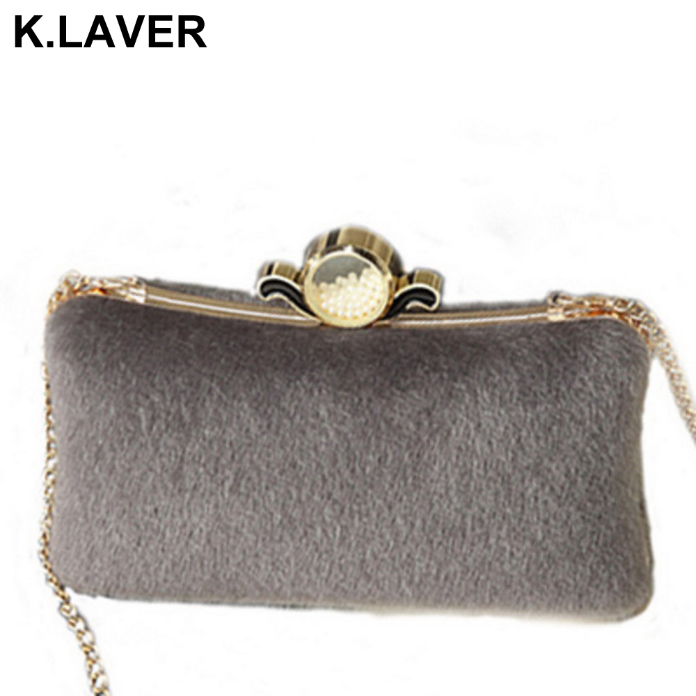 Wome Fashion Fur Party Evening Bag Ladies Shoulder Bag Mobile Phone Makeup Case Purse Cross body Menssenger Bags Clutch