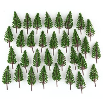 Oferta, modelo de 50 unidades de pino en miniatura, árboles de tren para escena a escala HO O OO de 78mm