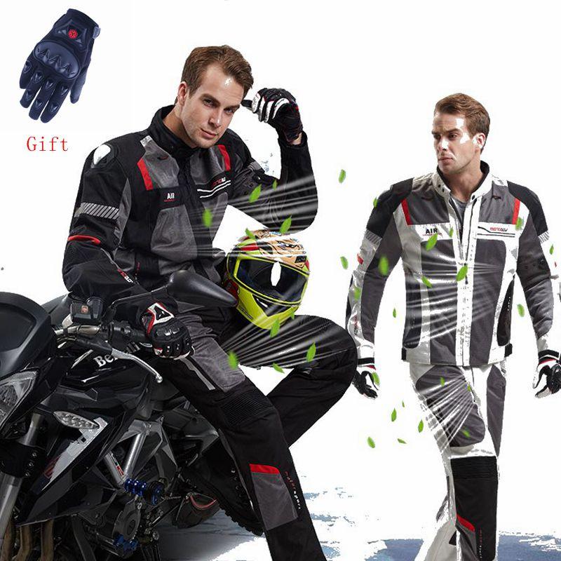 MOTOBOY été respirant Moto veste Moto + protecteur Moto pantalon Moto costume Touring vêtements Protec livraison gratuite EMS