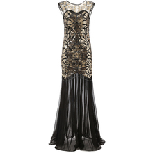 Wedtrend 1920s Beaded Sequins Gatsby Flapper Dresses Long Vintage Women Dresses Sparkling See-Through Sexy Chic New Club Dresses