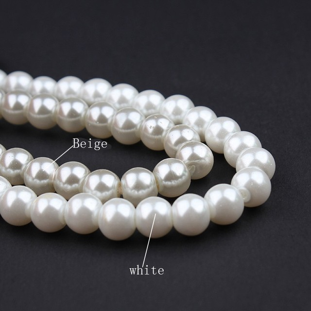 Big Chain Simulated White Pearl Necklace