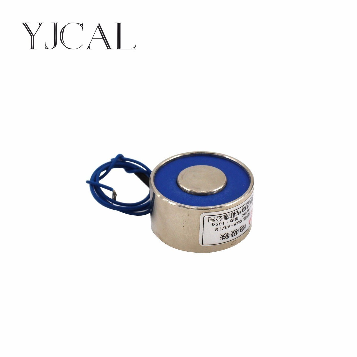 YJ- 40/40 DC 12V 24V Circular Micro Holding Electric Magnet Lifting 30KG Solenoid Sucker Electromagnet