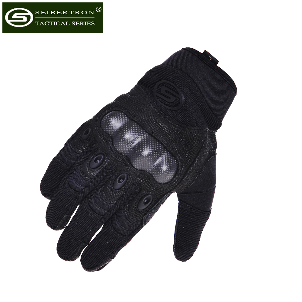 Seibertron Factory Pilot / Leather Palm Men's Outdoor GLOVES Full Finger Military Tactical Airsoft Hunting Cycling Bike Gloves