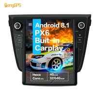 "12.1 ""'Vertical bildschirm Tesla Android 8,1 4 + 64GB voice control Gebaut-in CARPLAY Auto Radio Für NISSAN X-TRAIL Qashqai Rogue GPS Nav"