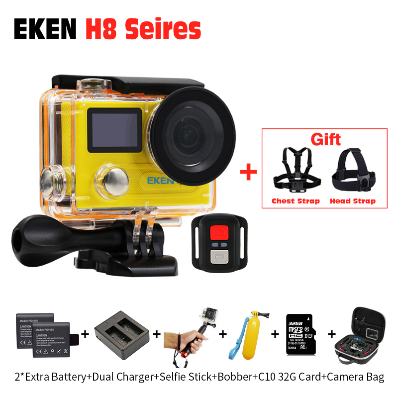 Action camera EKEN H8 pro Ultra HD 4k 30fps + H8R 1080p/60fps ,Original Remote Controller pro Cam go waterproof sport camera DVR original eken action camera eken h9r h9 ultra hd 4k wifi remote control sports video camcorder dvr dv go waterproof pro camera