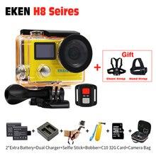 Экшн-камера EKEN H8 Pro Ultra HD 4 К 30fps + H8R 1080 P/60fps, оригинальный пульт дистанционного управления Pro Cam Go Водонепроницаемый Спорт камера DVR