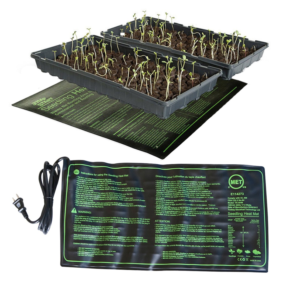 Seedling Heating Mat 50x25cm Waterproof Plant Seed Germination Propagation Clone Starter Pad 110V/220V Garden Supplies 1 Pc no frame canvas
