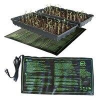 Estera de calefacción para plantones, 50x25cm, resistente al agua, almohadilla de iniciación clon para germinación de semillas, 110V/220V, suministros de jardín, 1 unidad