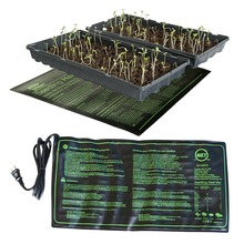 Estera de calefacción para plántulas, 50x25 cm, impermeable, semillas de plantas, germinación, propagación, clon, almohadilla de inicio, 110 V/220 V, suministros de jardín, 1 unidad
