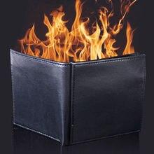 Волшебный огненный кошелек, мужской кожаный кошелек для трюков, для выступлений, волшебный игрушечный кошелек, шутки, сценические трюки, кошелек