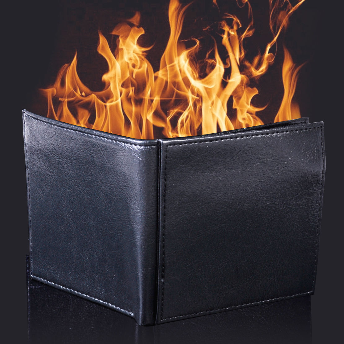 Magic Flame Fire Wallet Man Made Leather Trick Performance Pranks Magic Wallet Toy Jokes Stage Performance Tricks Wallet usb battery bank charger
