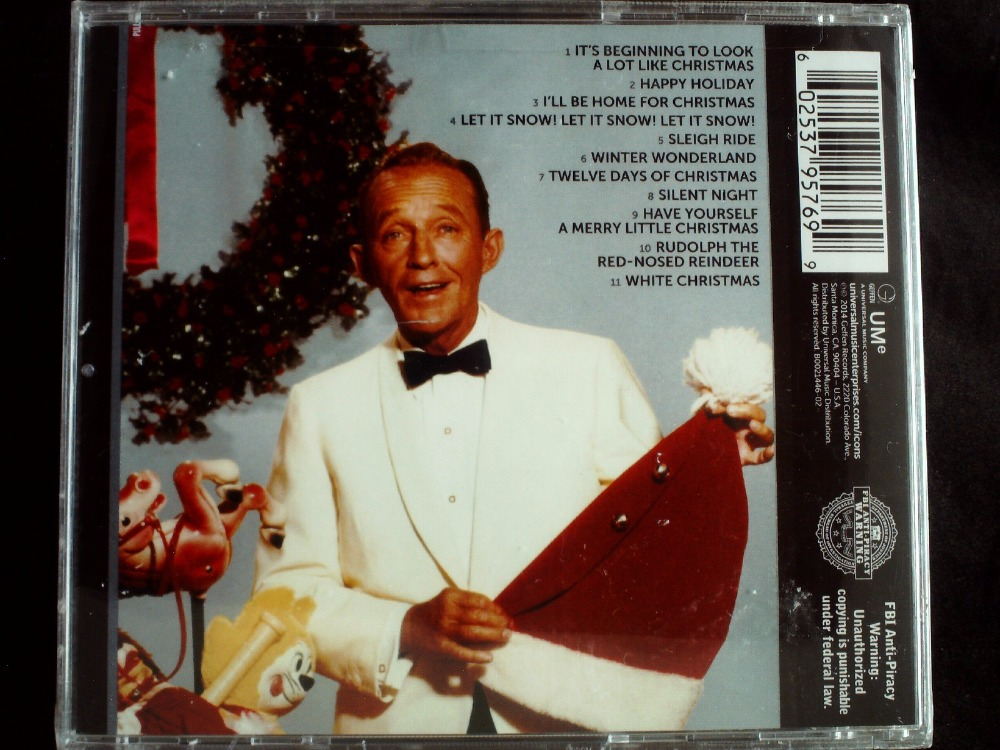 Bing Crosby Icon Christmas USA Original CD SEALED Jewel case ...