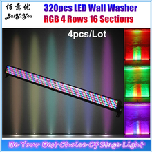 Popular wall lights uplighters buy cheap wall lights uplighters lots 4x dmx colorful backdrop uplight 320pcs rgb led wall washer bar light 320 4 rows 16 sections led color bar rgb chase led light aloadofball Images