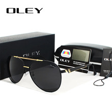 OLEY High-quality Polarized Sunglasses Men Brand Designer Fashion Eyes Protect Sun Glasses With Accessories Box gafas de sol стоимость