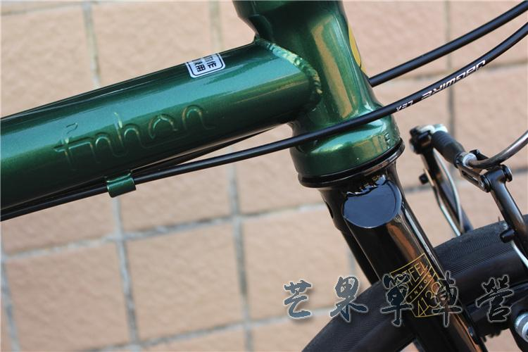 "HTB1BP9JXPDuK1Rjy1zjq6zraFXa3 Fnhon CR-MO Steel Folding Bike 16"" Minivelo Mini velo 9 Speed Bike Bicycle overall bike V Brake"