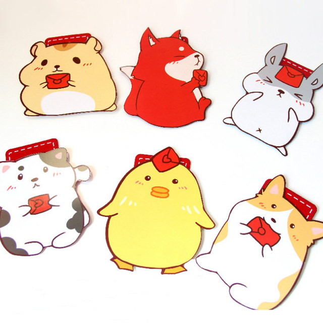 5 Pcs Lot Cartoon Animal School Bag Shape Envelope For Birthday