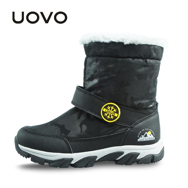 Uovo más nuevos niños botas de invierno cálido niños botas de mitad de la pantorrilla botas de nieve para niños de invierno zapatos de los niños zapatos de los muchachos
