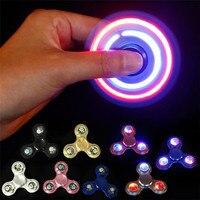 Metal Fidget Spinner Finger Spinner LED Light EDC Stress Wheel Hand Spinner For Adults Autism ADHD