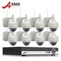 3 TB HDD Onvif H.264 8Ch NVR Kit de Vigilância Por Vídeo de 2MP 1080 P Pan Tilt HD WIFI Rede IP Sem Fio Da Câmera de CCTV Sistema de Segurança