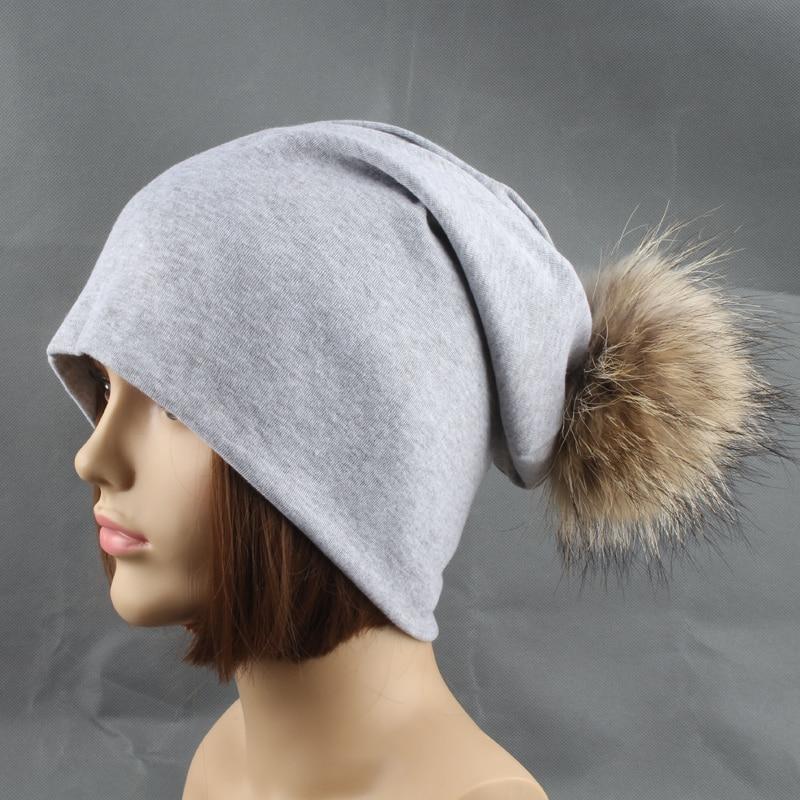 Rudens žiemos unisex vientisos spalvos medvilnės skullies pupelės - Drabužių priedai - Nuotrauka 5