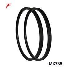 Aro 27.5er углеродный обод велосипеда все горы mtb велосипед диски 27,5 дюймов 35 мм шириной 28 32 отверстия крючковый обод MX735