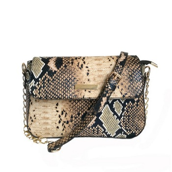 FUNMARDI Brand Snake Women Bag Small Crossbody Bag For Women Fashion PU Leather Shoulder Bag Female Chain Messenger Bag WLHB1790