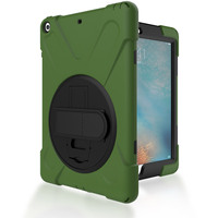 Hybrid Full Body 3 Layer Armor Protective ShockProof For IPad 5 Case Cover With Hand Strap