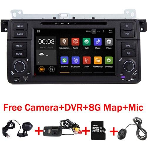 2017 Android 7.1 DVD De Voiture pour BMW E46 M3 Stéréo vido audio GPS Wifi 3G GPS Bluetooth Radio RDS OBD USB SD volant DVR Carte