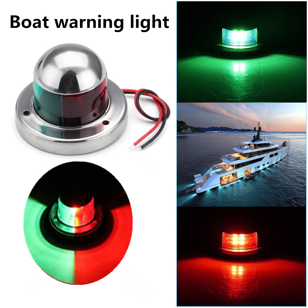 12V LED Bow Navigation Light Red Green Sailing Signal Light for Marine Boat New
