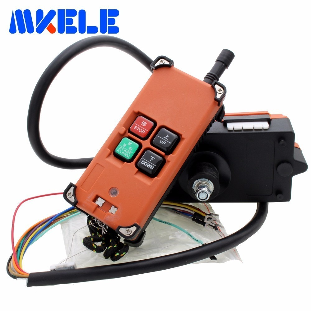 4 key Industrial Remote Control Distance For Overhead Crane AC DC Universal Wireless Radio 220V 12V