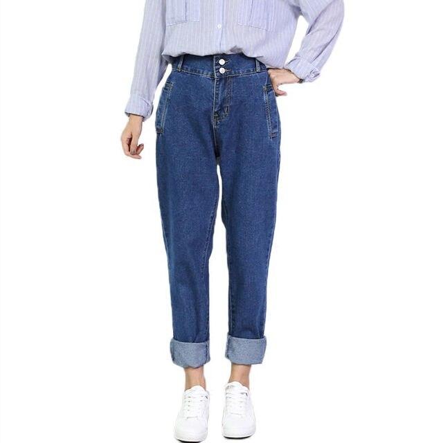 3bccaacd84222 Plus Size 4XL 5XL 2019 Fashion Boyfriend Jeans For Women Vintage High Waist  Jeans Woman Denim