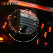 Capa multimídia automotivo srxtzm idrive, capa preta com botão em cerâmica para bmw x1 f25 x3 x4 f15 x5 f16 x6 1 f10 f20 f30 f34 série 2 3 5